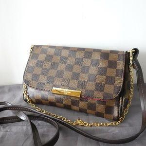 Louis Vuitton 8 x 5 x 1.5 damier ebene